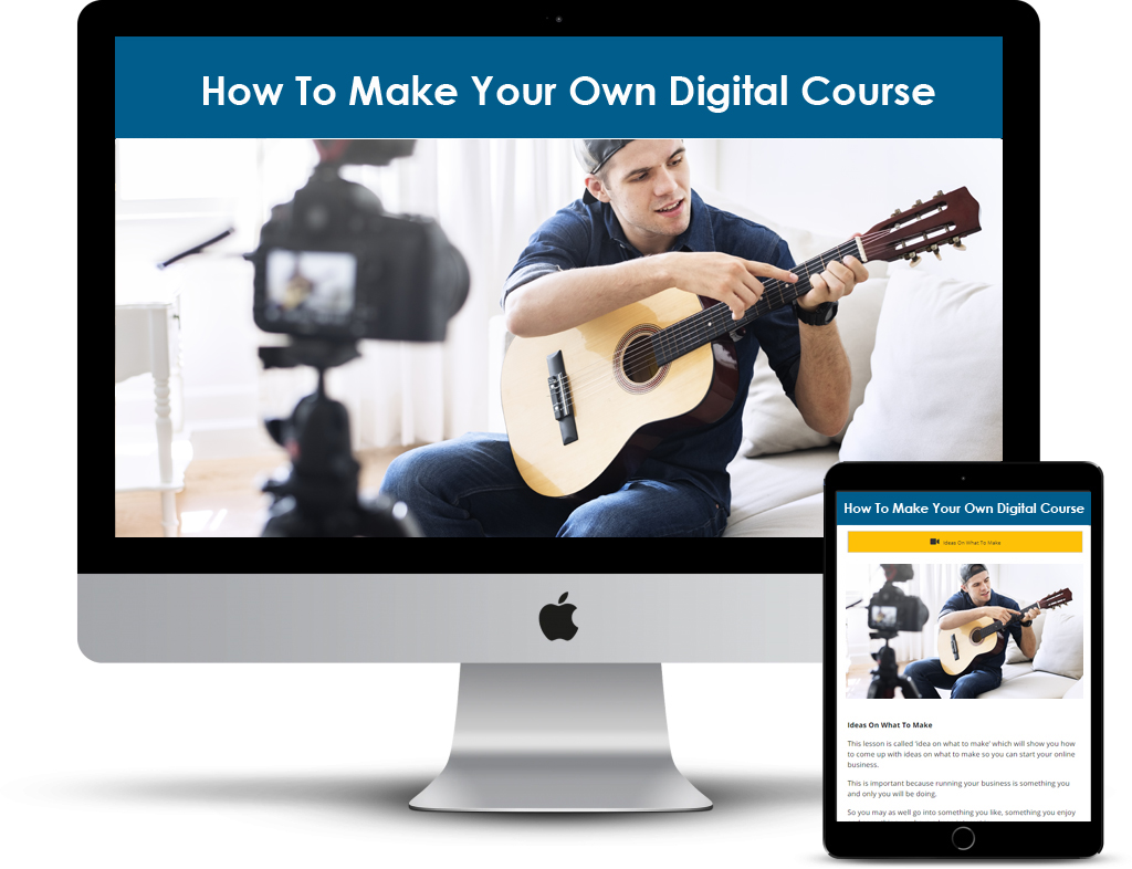 How To Make Your Own Digital Course