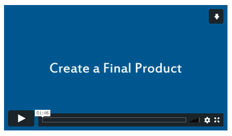 Create a Final Product