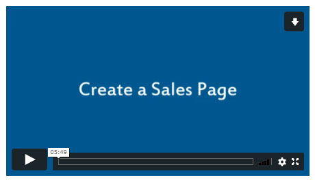 Create a Sales Page