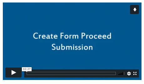 Create Form Proceed Submission