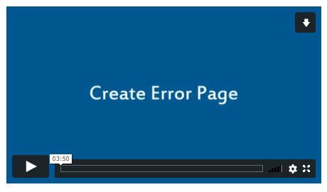 Create Error Page